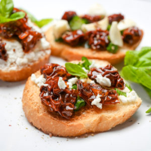 Toasted Cheesy Bruschetta