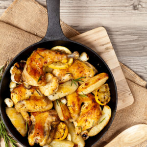 Herbs de Provence Roasted Chicken and Potatoes