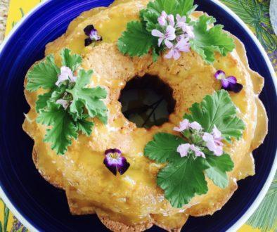 Rose Scented Geranium Pound Cake
